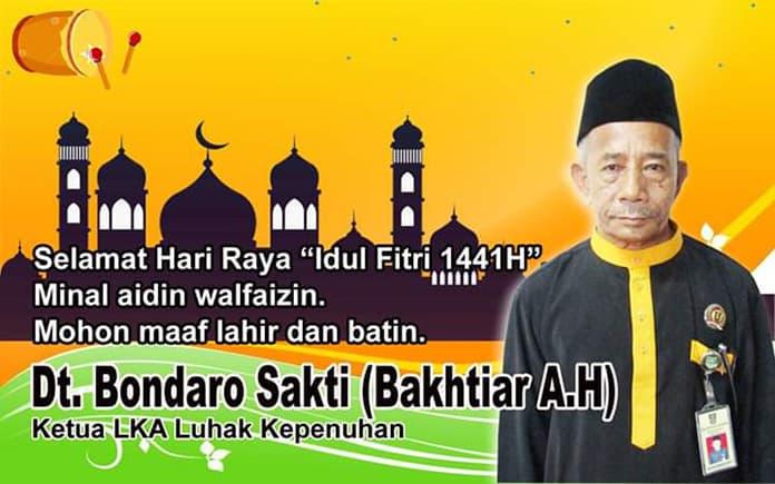 Ucapan Idul Fitri datuk bahtiar AH