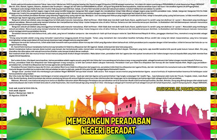 Banner Membangun peradaban negeri Beradat