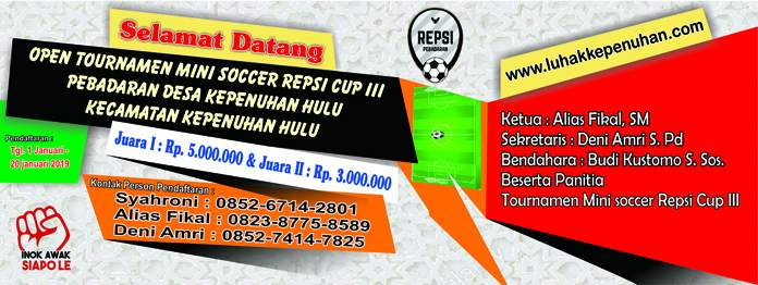 Banner Open Turnamen Pekan Tabih Cup 2018