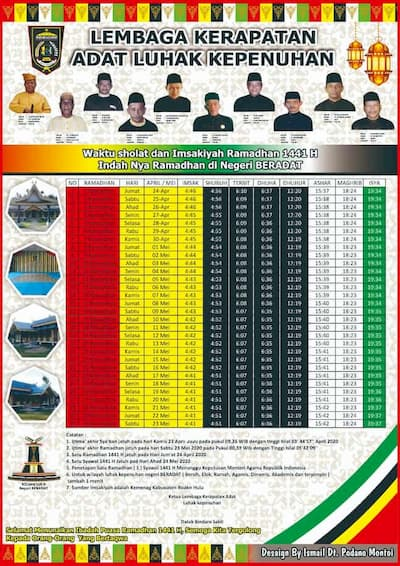 Banner Waktu Sholat dan Imsakiyah 1441 H