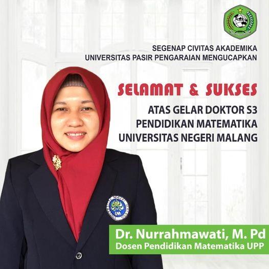Selamat dan Sukses kepada Dr. Nurrahmawati, M.Pd.