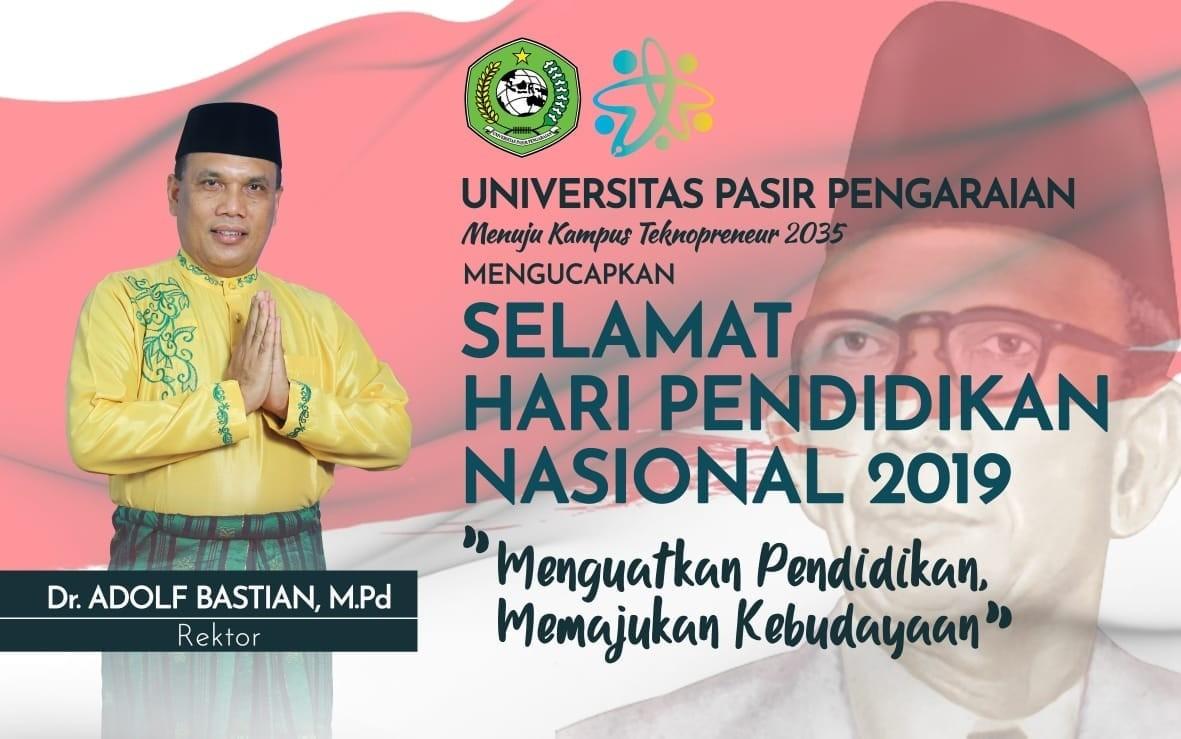 Selamat Hari Pendidikan Nasional 2019.