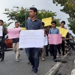 Mahasiswa Rohul Tuntut Kapolda Riau