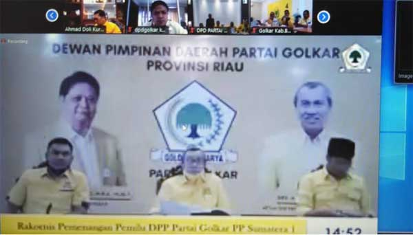 PILKADA 2020  Golkar Riau Minta Segera Terbitkan SK Paslon di 3 Daerah
