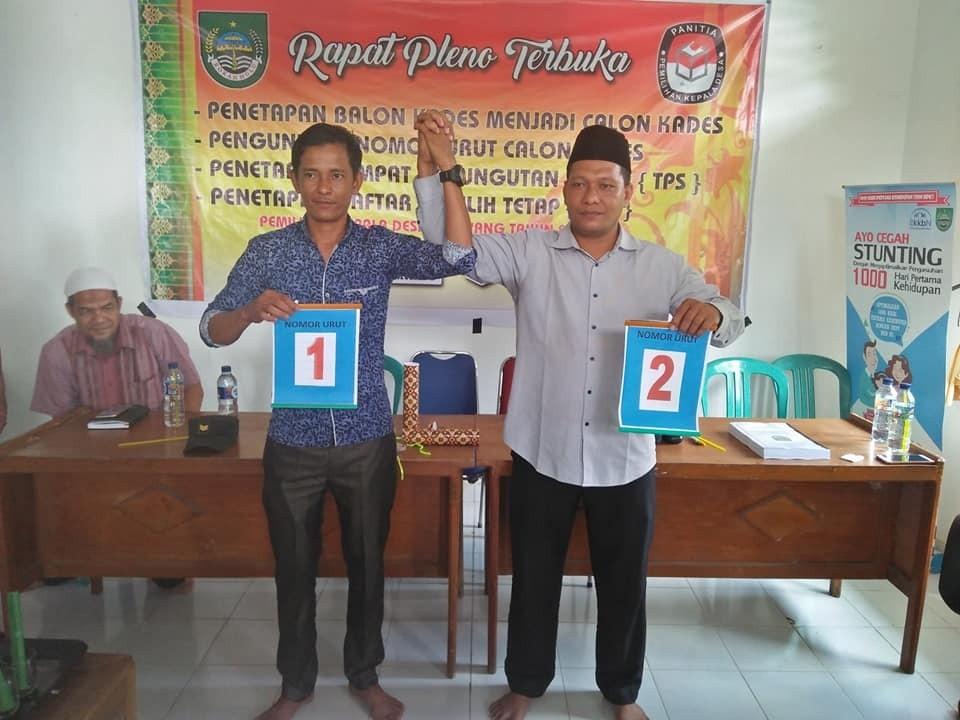 Acara pemilihan Nomor urut calon kepala desa kepayang berjalan lancar..