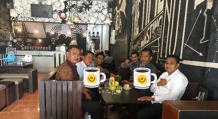 Ngopi Bersama Kades Muara Jaya