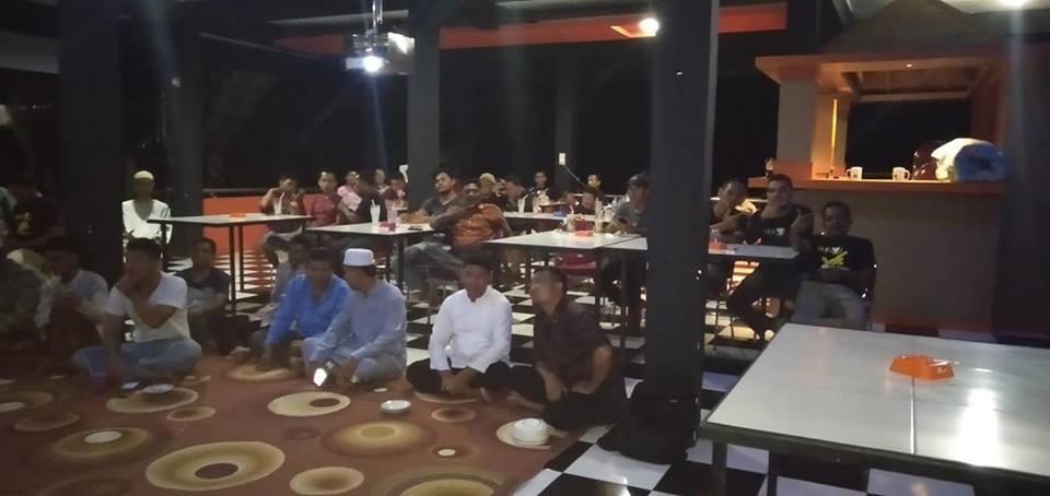 Nobar debat capres dan cawapres 2019, Sei Kuning Kota Tengah