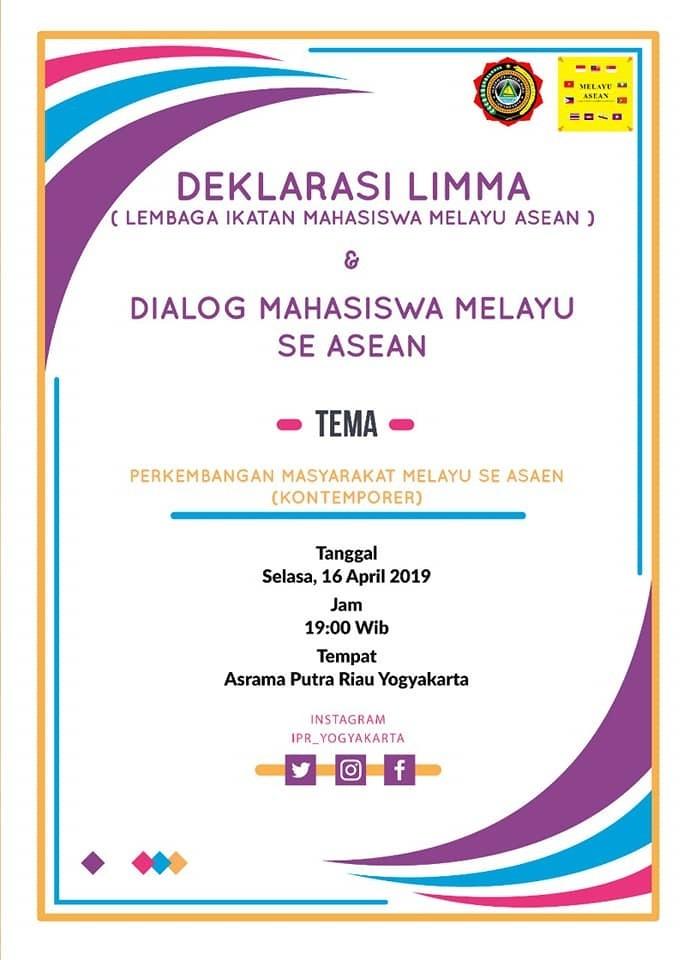 Deklarasi L.I.M.M.A (Lembaga Ikatan Mahasiswa Melayu ASEAN) & Dialog Kebudayaan Melayu se ASEAN Ikat