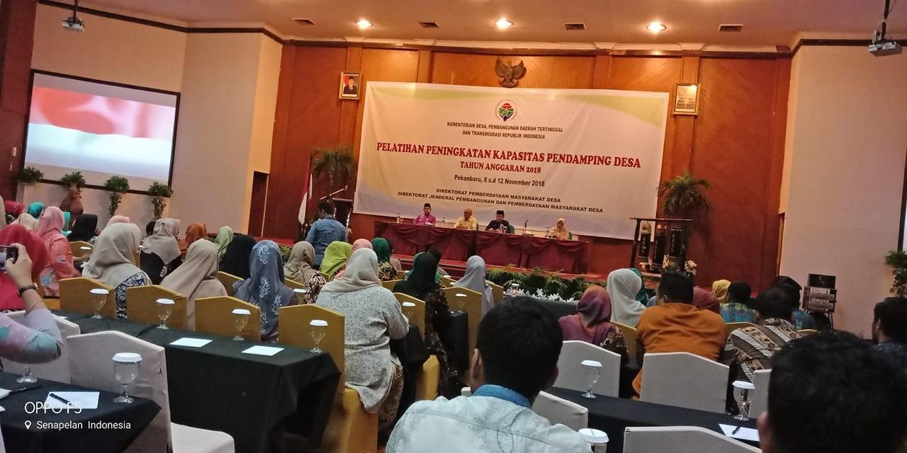 Pembukaan pelatihan peningkatan kapasitas pendamping Desa tahun 2018 se provinsi Riau