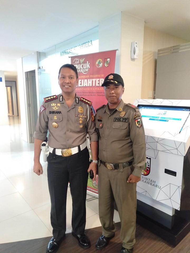 Di kunjungi oleh dirlantas Polda Riau...mpp Pekanbaru.
